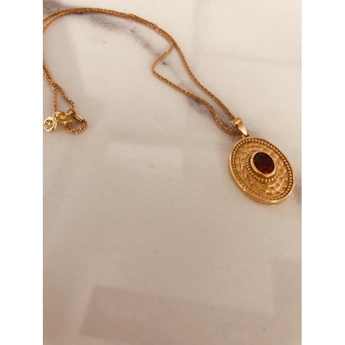 Χρυσά κολιέ PAGERI με βυζαντινό