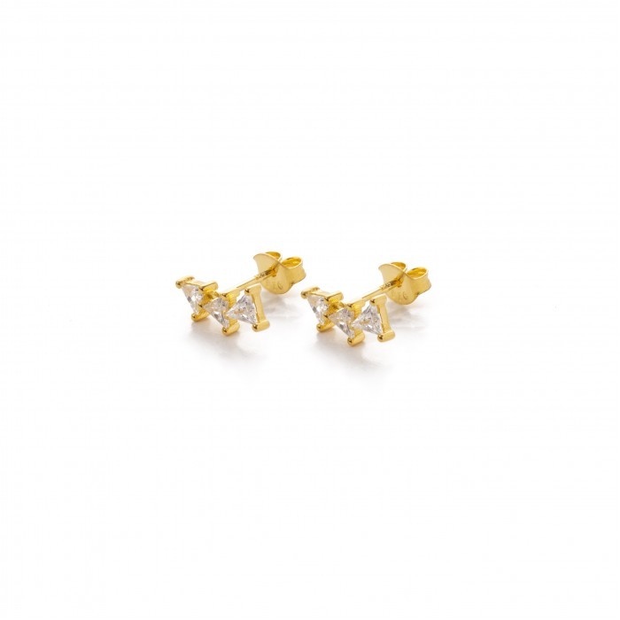 Χρυσά σκουλαρίκια PAGERI  Star line