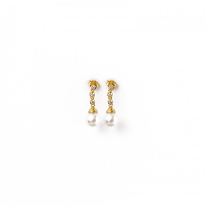 Χρυσά σκουλαρίκια PAGERI  κρεμαστά