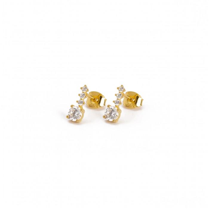 Χρυσά σκουλαρίκια PAGERI