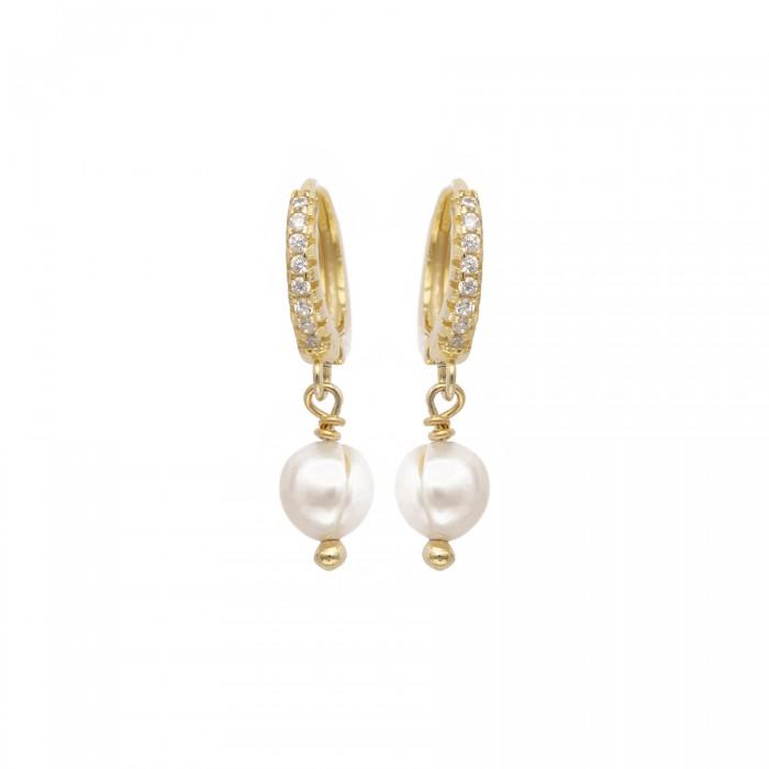 Σκουλαρίκι PAGERI χρυσό με μαργαριταρι