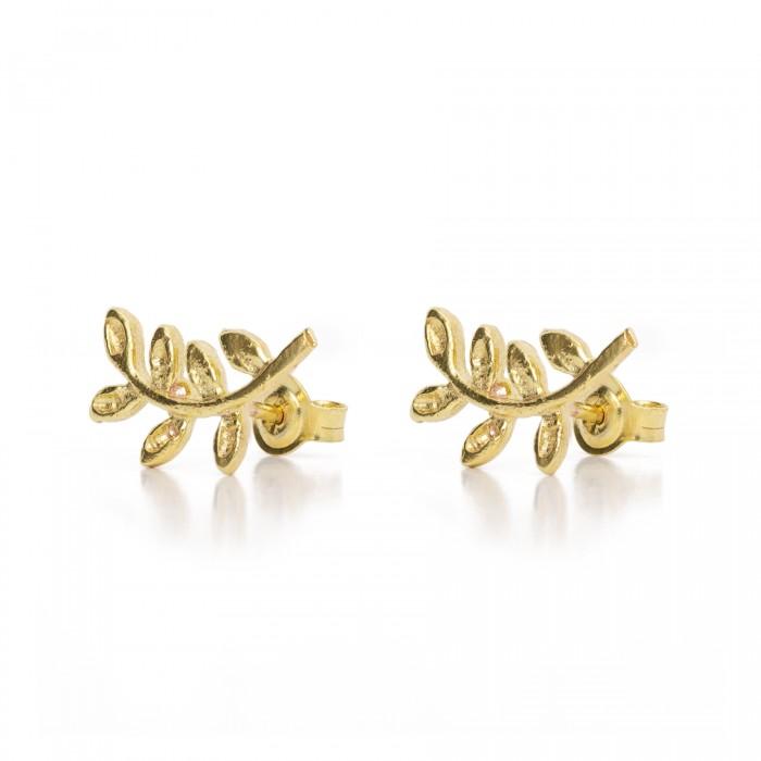 Χρυσά σκουλαρίκια  PAGERI κλαδί ελιάς
